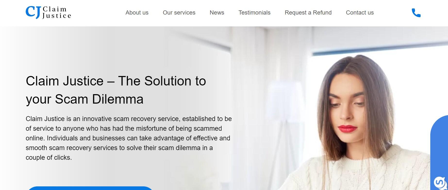 Claim Justice website